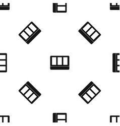 White window frame pattern seamless black vector