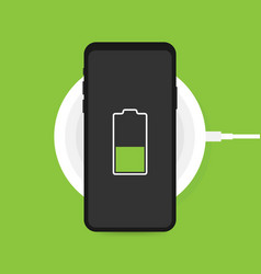 wireless charging for smartphone innovative vector image