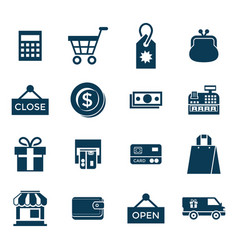 digital blue shopping sale vector image