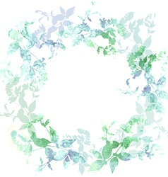 Spring background wreath with mint green leaves vector image vector image