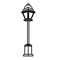street light lamp vector image vector image