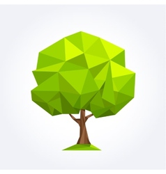 Green geometric palm formed by triangles vector image