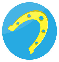 Horseshoes gold lucky icon vector image