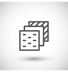 Insulation layers line icon vector image vector image