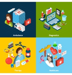 Medical Isometric Set vector image vector image