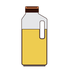 orange juice bottle in colorful silhouette with vector image vector image