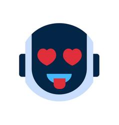 Robot face icon smiling face emotion robotic emoji vector