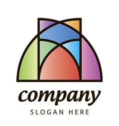 stained glass logo vector image