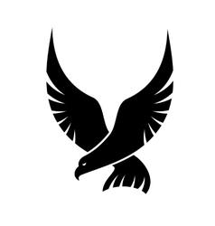Swooping falcon bird vector image