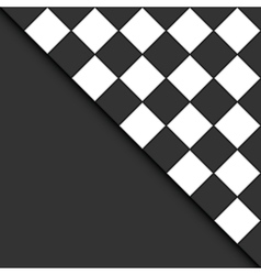 black and white tiles vector image