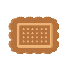 brown cookie icon flat style vector image