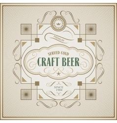 Good craft beer brewery vintage label vector image