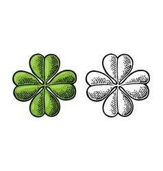 good luck four leaf clover vintage vector image vector image