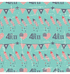 Patriotic seamless pattern for Independence Day vector image vector image