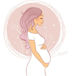 pregnant pic vector image vector image