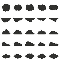 clouds set in silhouette style vector image