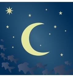 Fabulous moonlit night vector image