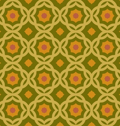old green geometric pattern vector image vector image