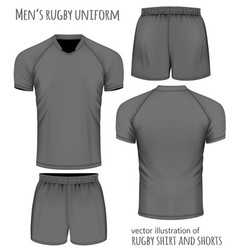 rugby uniform in black vector image vector image
