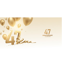 47th anniversary celebration background vector image
