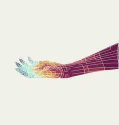abstract human hand vector image