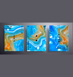 Abstract liquid banner fluid art texture vector