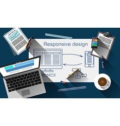 Application developer workspace vector