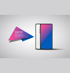 banner smartphone on transparent background vector image