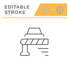 barrier editable stroke line icon vector image