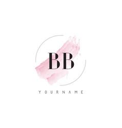Bb b b watercolor letter logo design vector
