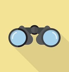Binoculars icon flat style vector