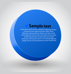 Blue three dimensions sircle vector
