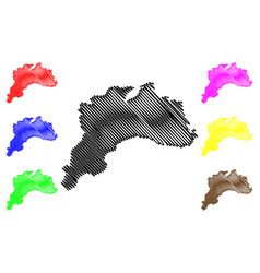 Burdur map vector
