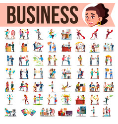business people set office lifestyle vector image