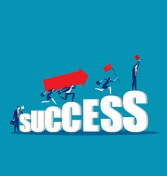 Business teamwork togetherness concept business vector