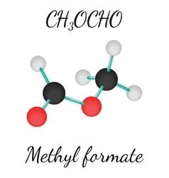 CH3OCHO methyl formate molecule vector image