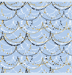 christmas decorations color seamless pattern vector image