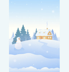 Christmas snowman vertical background vector