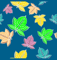 Colorful maple leaf seamless pattern textile vector