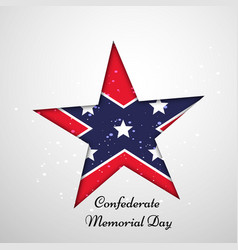 Confederate memorial day vector