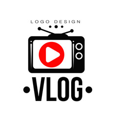 Creative logo for video vlog or channel emblem vector