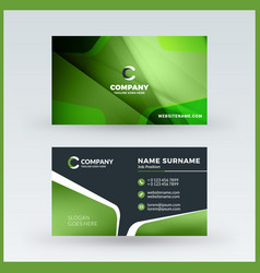 Double-sided horizontal business card template vector