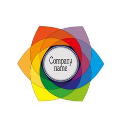 emblem a symbol of multi-colored hexagonal vector image
