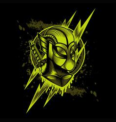 Flash thunder hero mascot vector