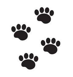 foot marks an animal icon flat cartoon style vector image