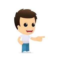 Funny cartoon casual man vector
