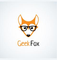 Geek logo vector
