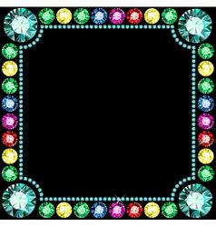 Gem Frame vector image
