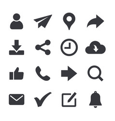 General web icons set vector