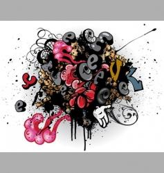 graffiti explosion vector image
